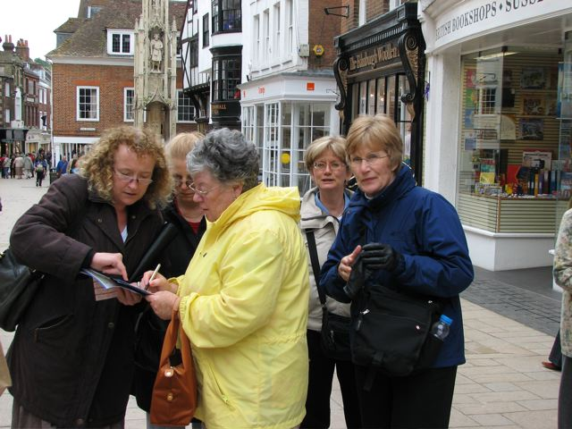 Angela & clients in Winchester