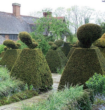 Topiary at Great Dixter
