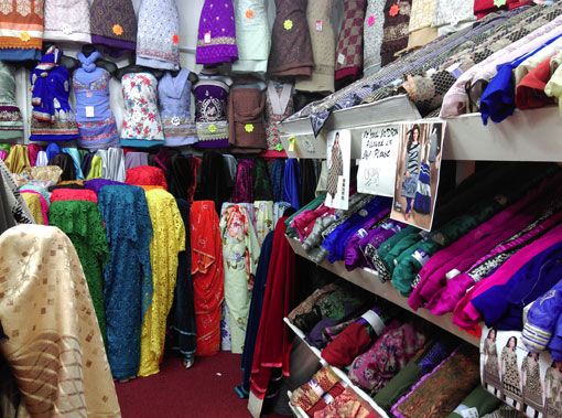 Indian fabrics in Walthamstow