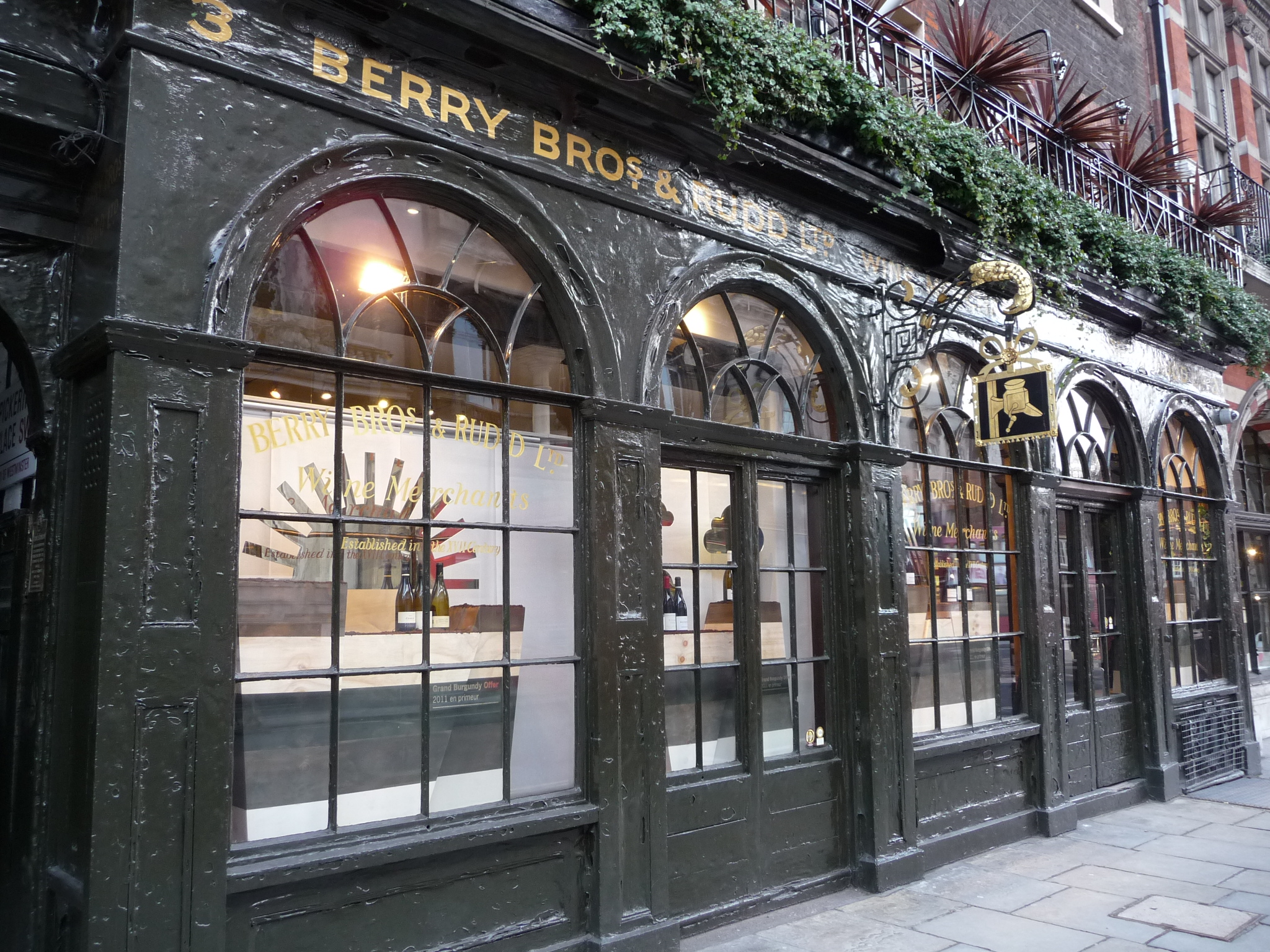 Berry Bros., one of London's traditional shops
