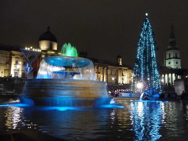 Christmas in London – Trafalgar Square